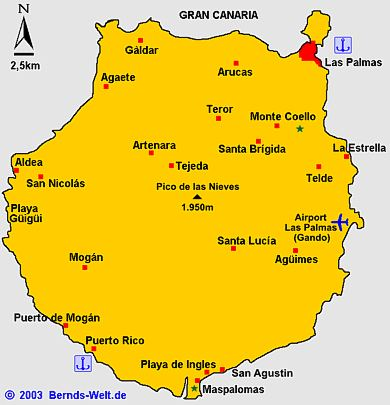 Gran Canaria Karte Flughafen.Gran Canaria
